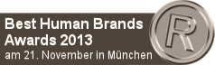 Best Human Brands Awards 2013 in München